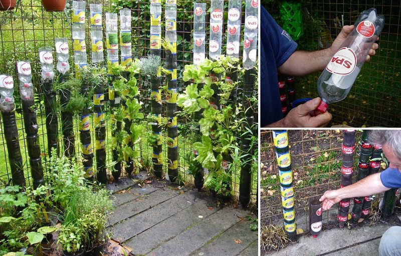 How to Build A Bottle Tower Gardenv