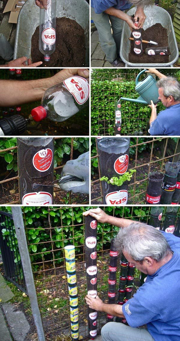 How to Build A Bottle Tower Garden