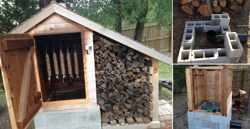 Building a Smokehouse For Those Who Live in Nature and Like Hunting