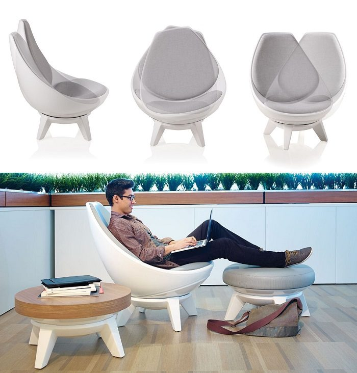 This Lounge Chair Responding to Your Natural Body Movements