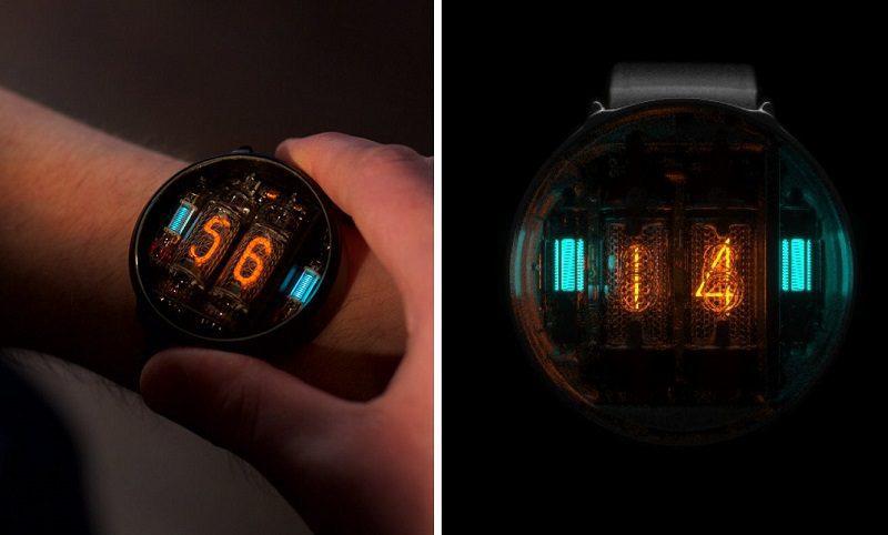 Nikola Tesla Style NIWA Nixie Tube Watch