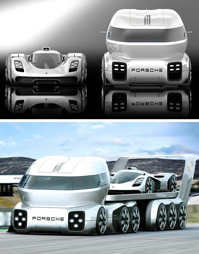 Unique Futuristic Porsche GT Vision Truck Design