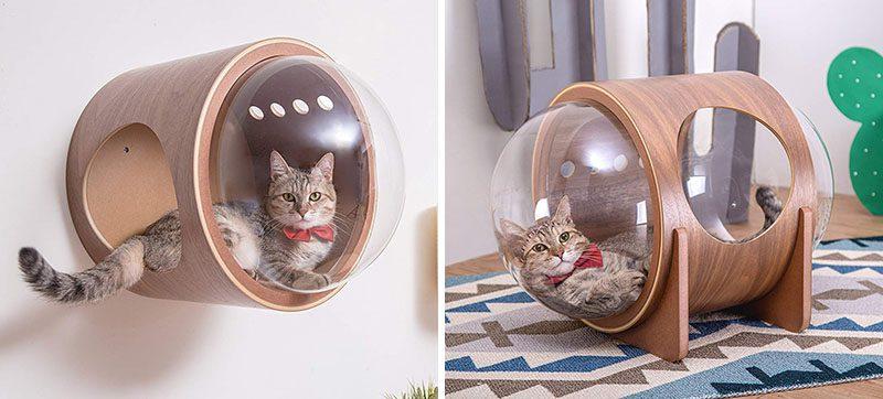 Unique Pet Furniture Spaceship-Inspired Cat Beds