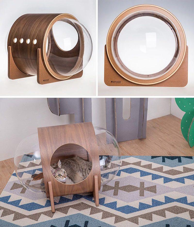 Unique Pet Furniture Spaceship-Inspired Cat Bed