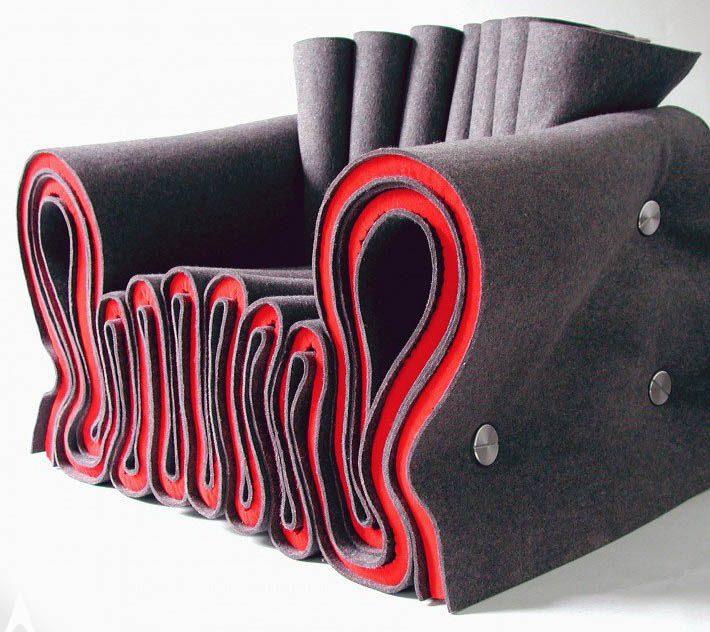 Joseph Felt Chair Seating byLothar Windels