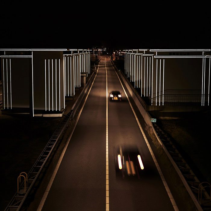 Gates of Light Retroreflective Architecture byDaan Roosegaarde