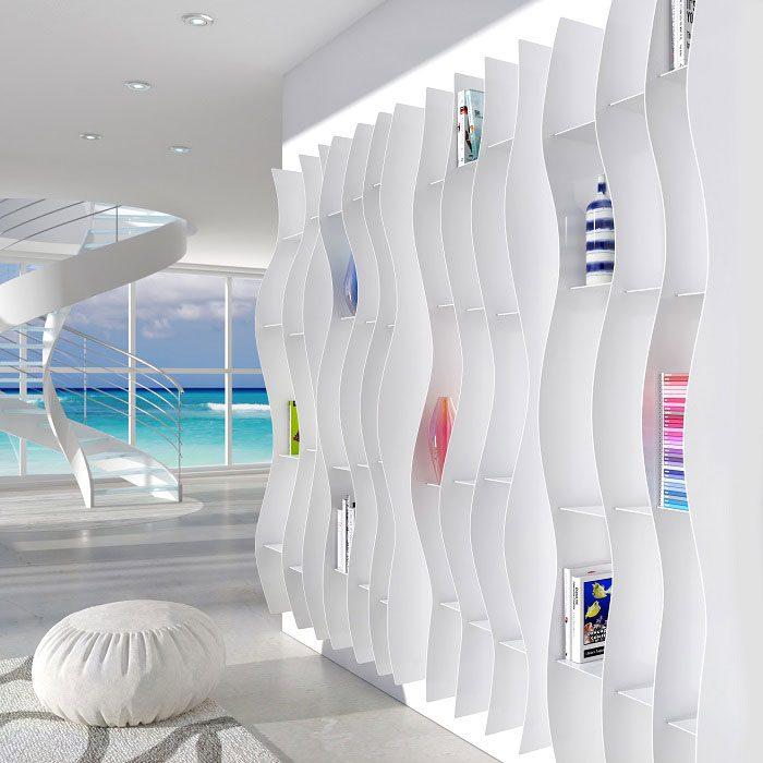 Waveform Bookcase by Carmine Scotch