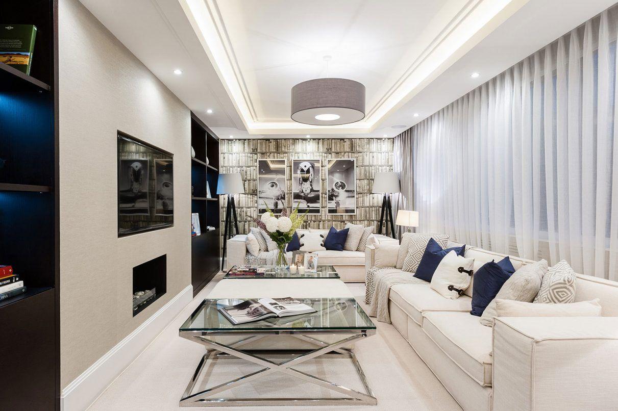 Rectangular Living Room Decoration | iCreatived