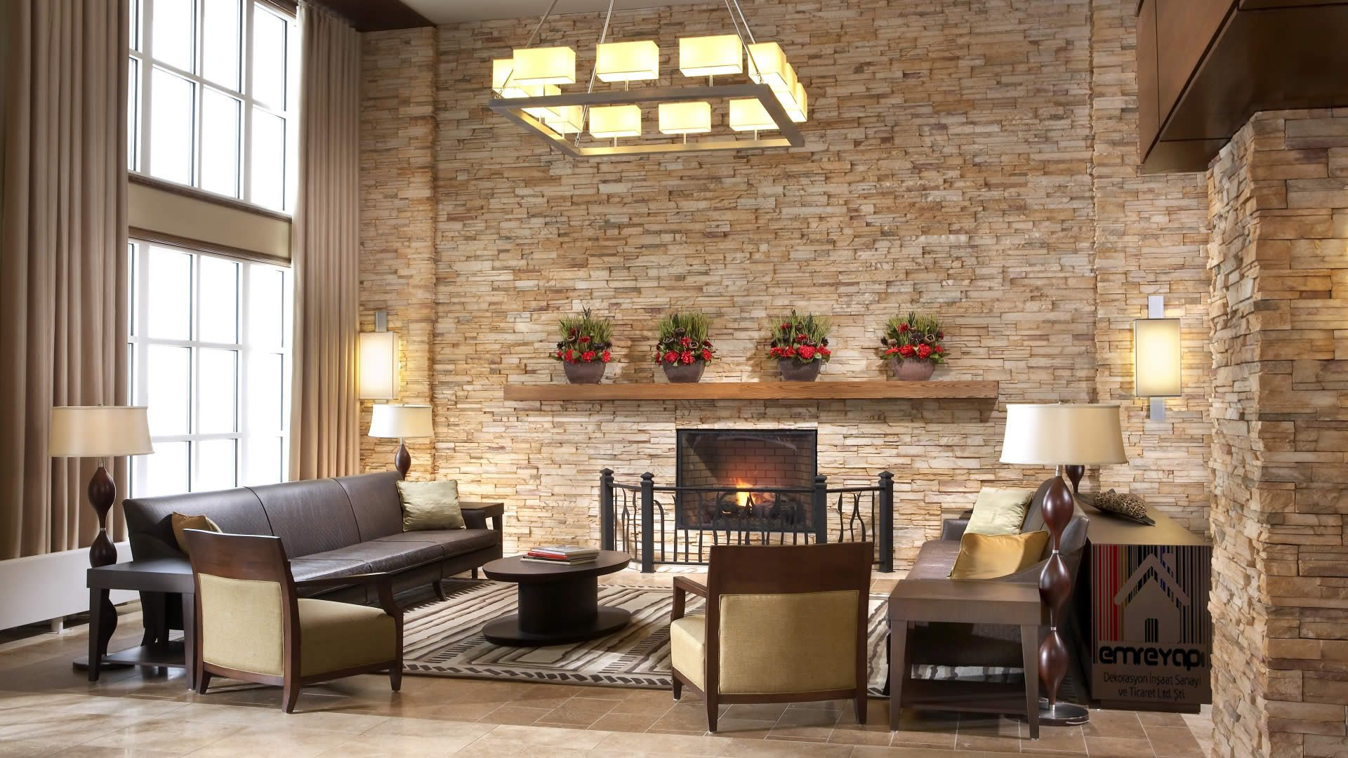 Stone Wall Decoration For Living Room Icreatived