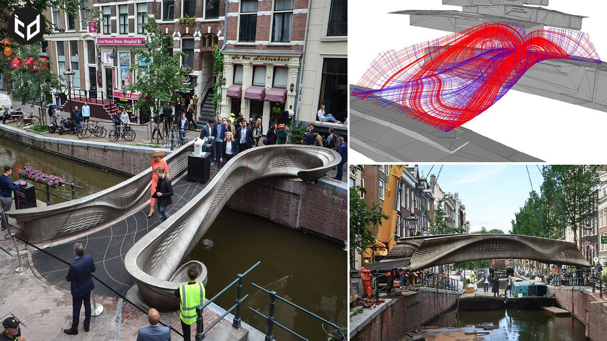 The World's First 3D-Printed Steel Bridge Unveiled in Amsterdam